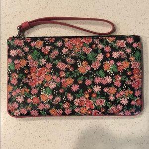Floral Coach Wristlet
